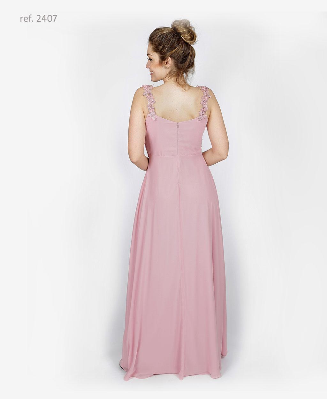 vestido com bordado rose