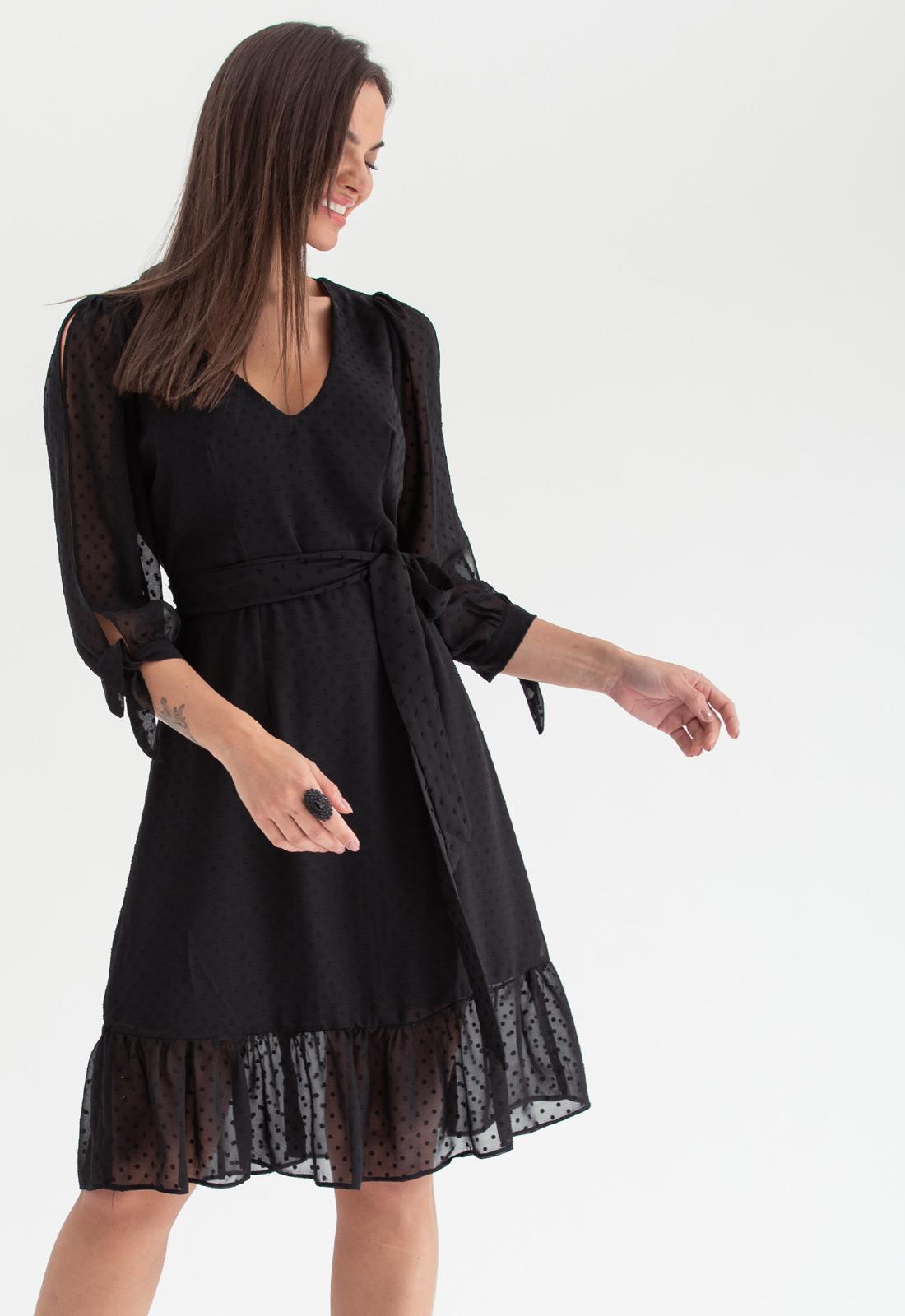 Vestido de festa curto Preto ref. 2584