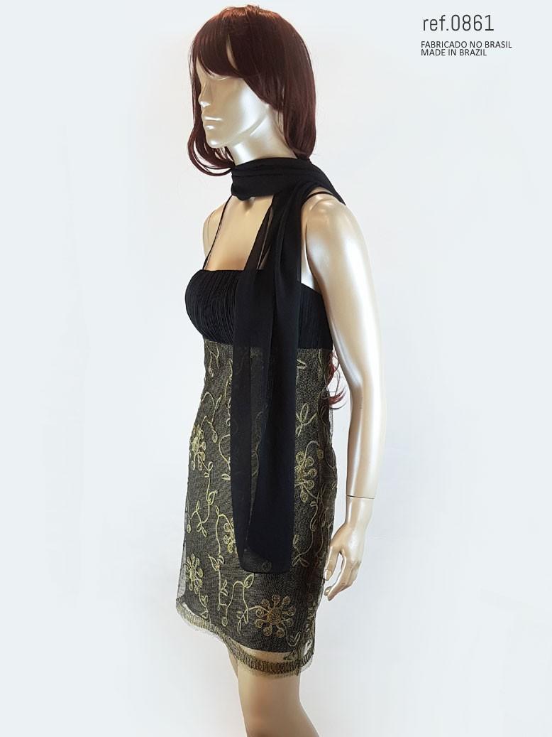 Vestido de festa curto  ref. 0861