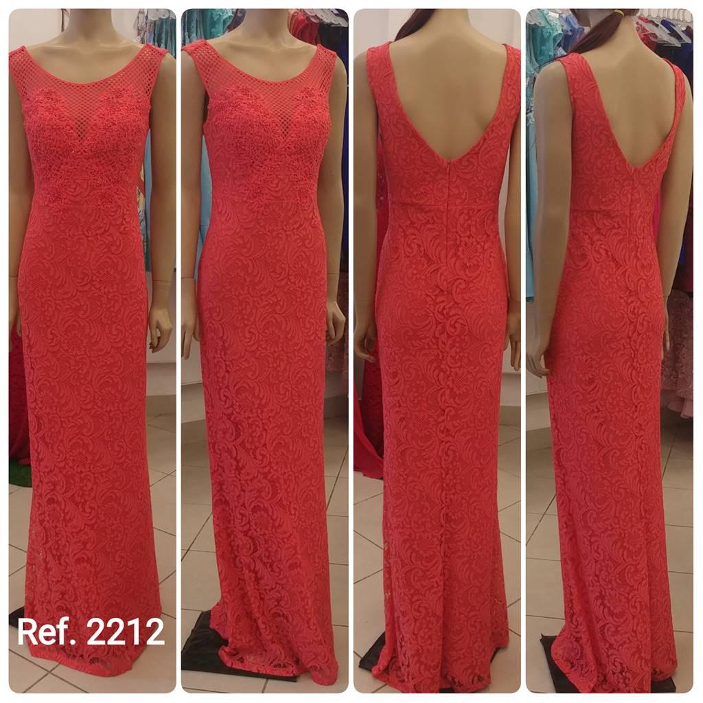 Vestido de festa em Renda Bordado detalhado - Ref. 2212 s