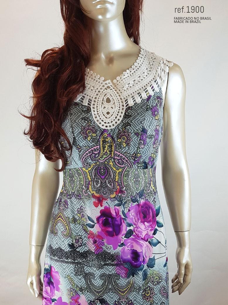 vestido com renda busto