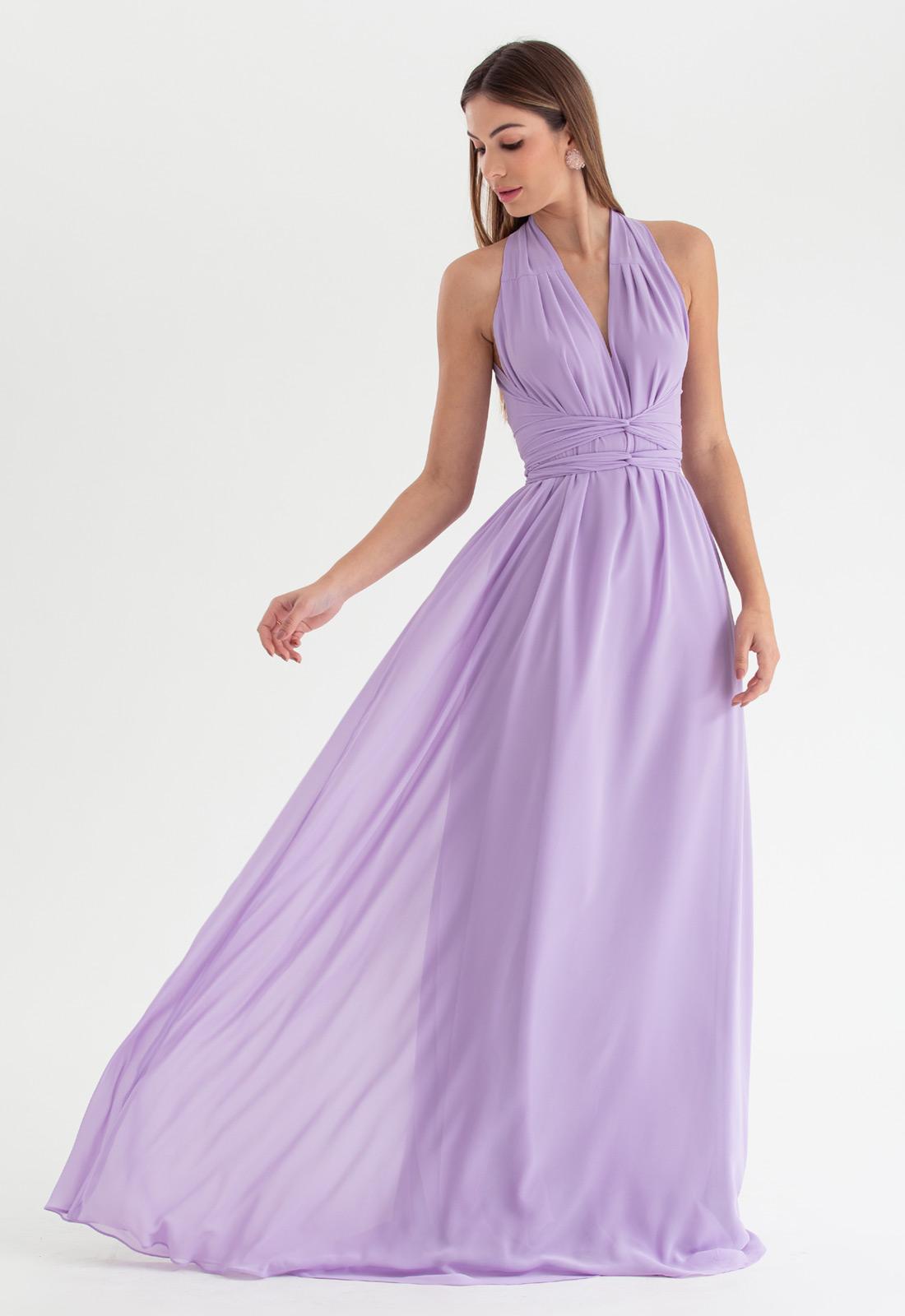 Vestido de festa Lilás multi-tamanho Ref. 2580