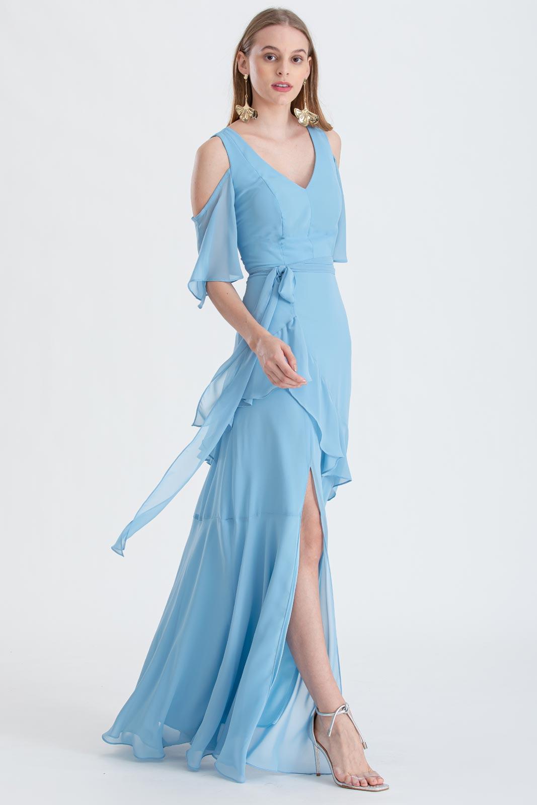 Vestido de festa longo Azul Serenity ref. 2531