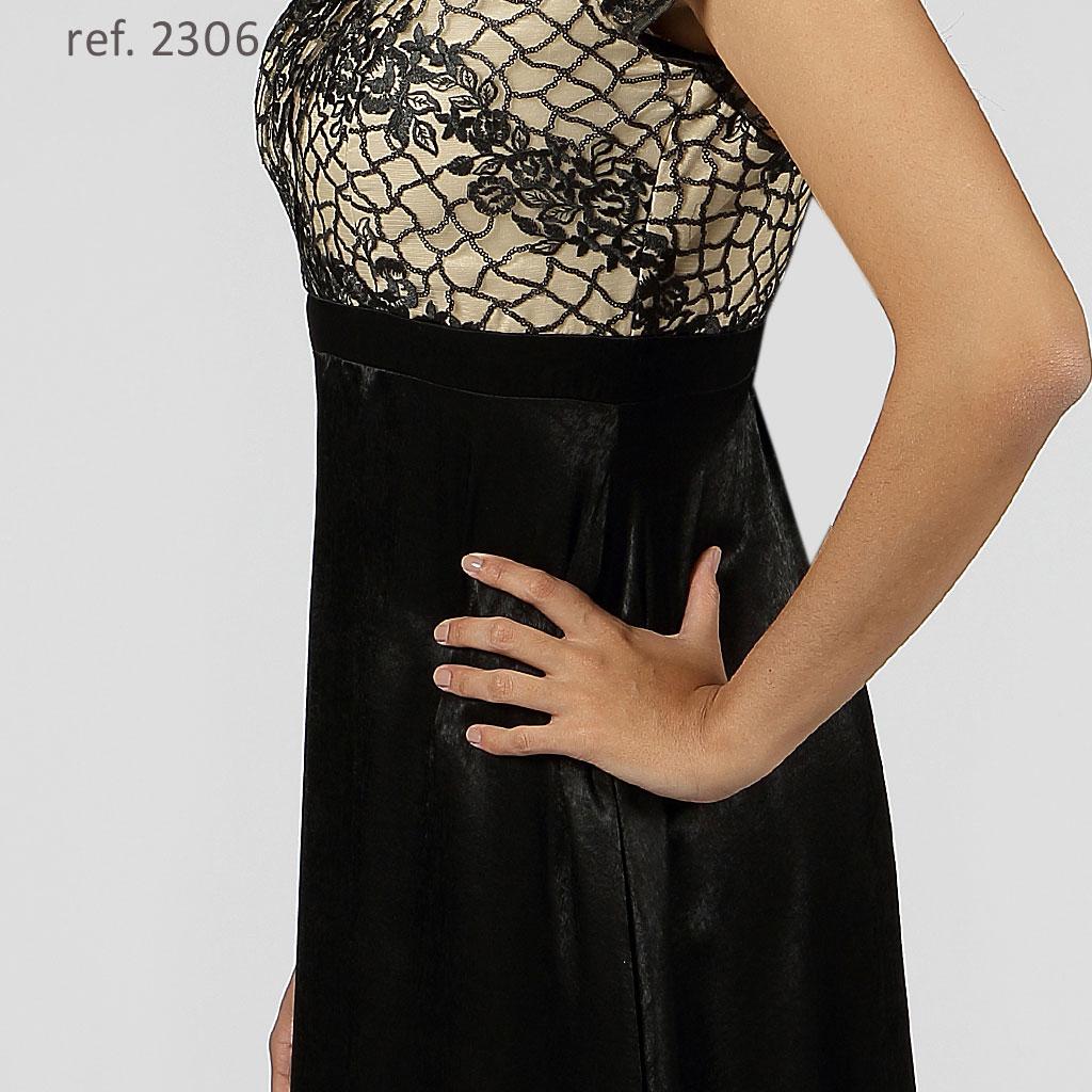 vestido boradado preto