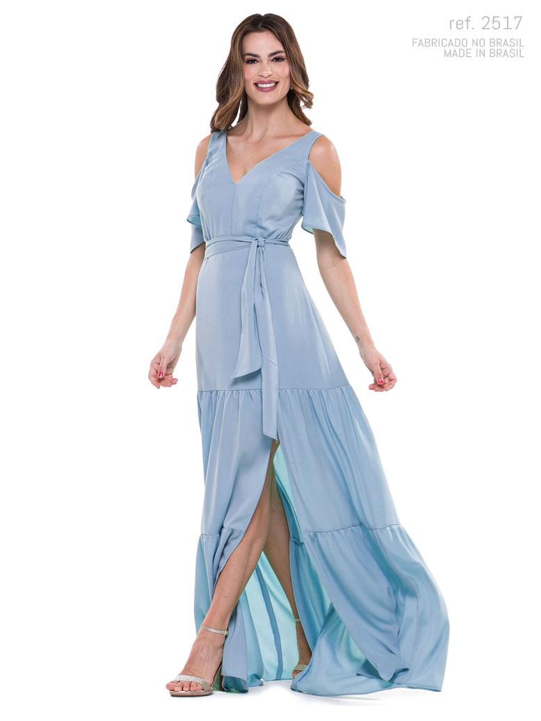 Vestido de festa longo Azul serenity ref. 2517