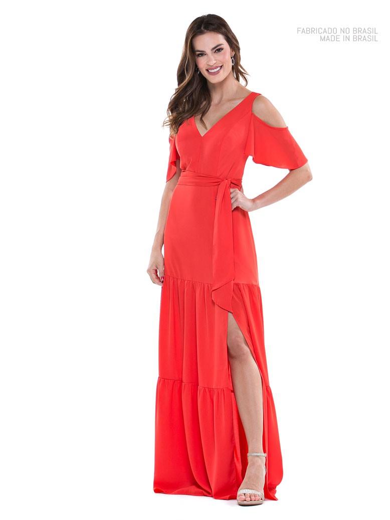 Vestido de festa longo Coral ref. 2517
