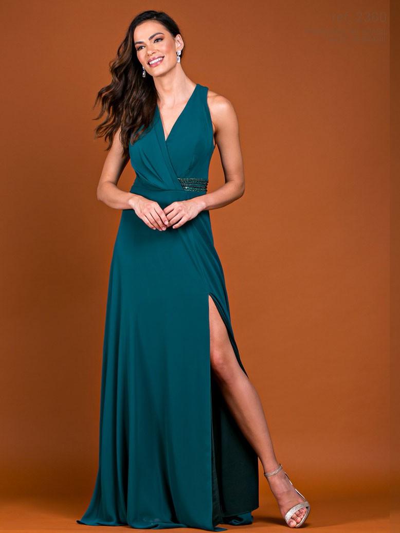 Vestido de festa longo Verde - Ref. 2360