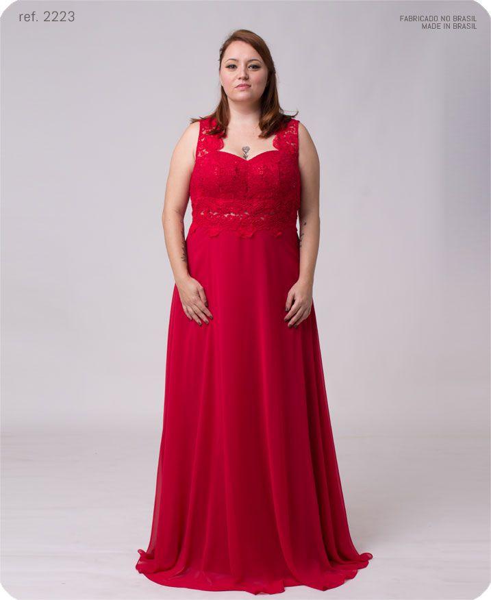 Vestido de festa longo Renda bordada em paetê - Ref. 2223