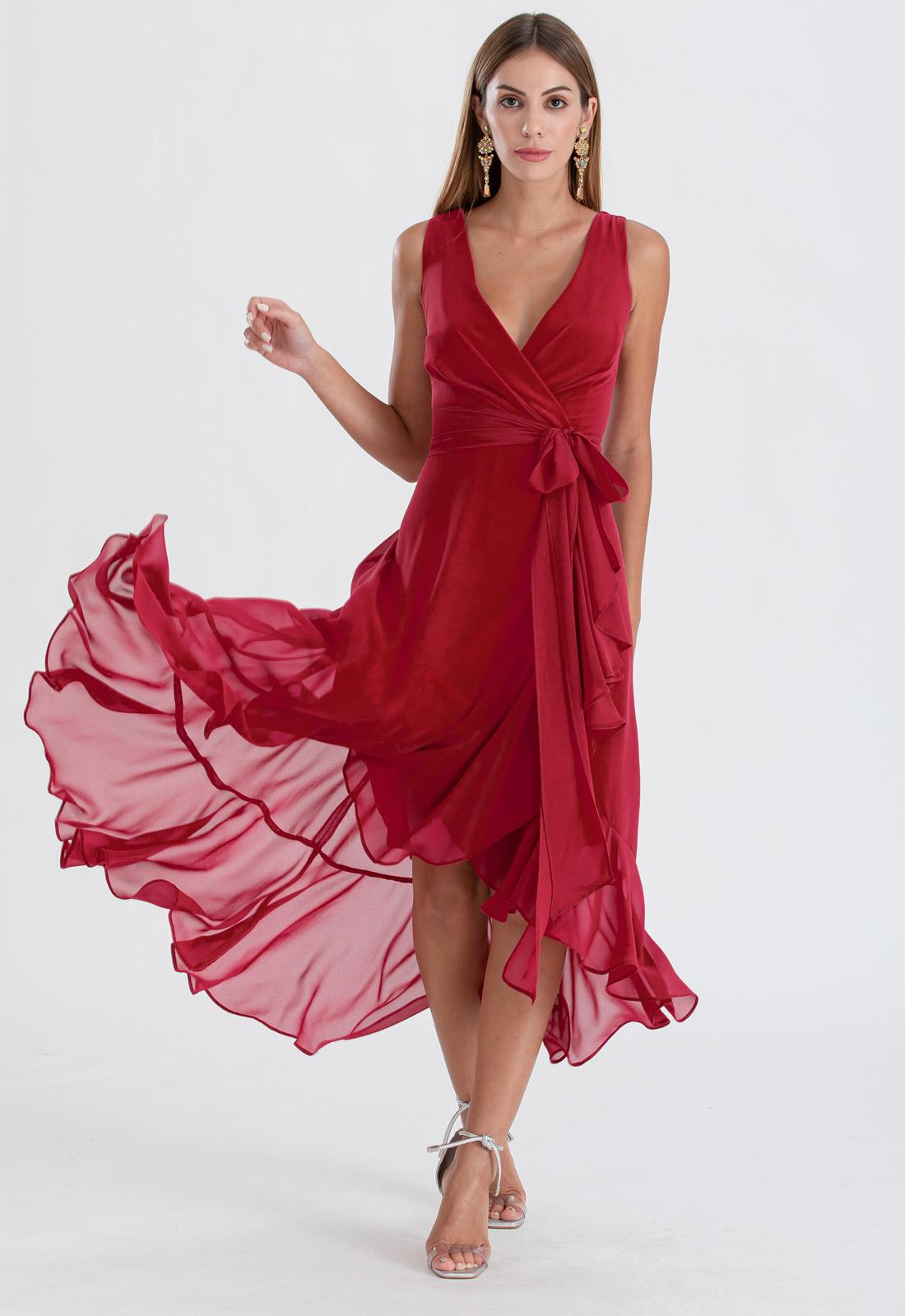 Vestido de festa marsala mullet ref. 2480