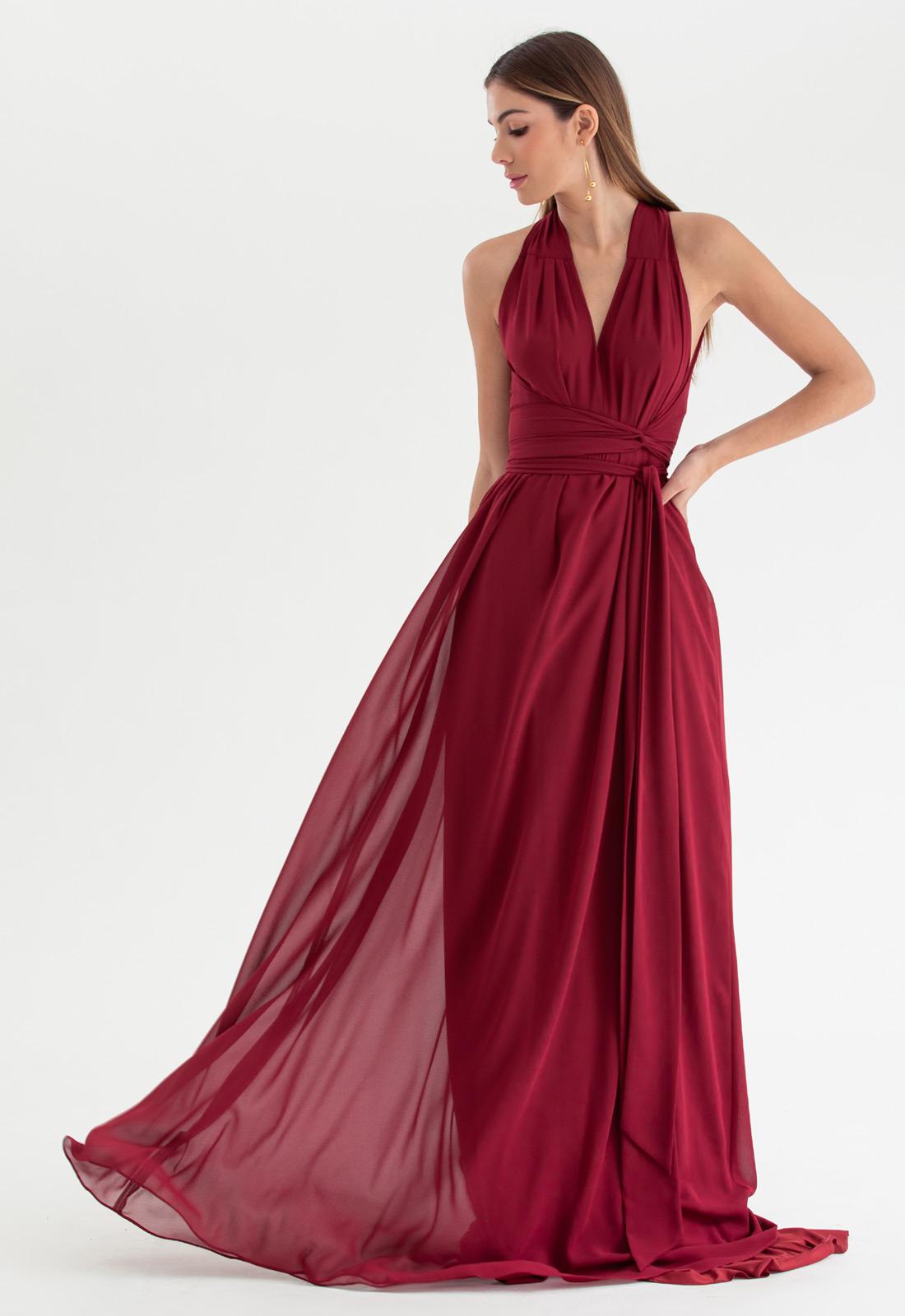 Vestido de festa marsala multi-tamanho Ref. 2580