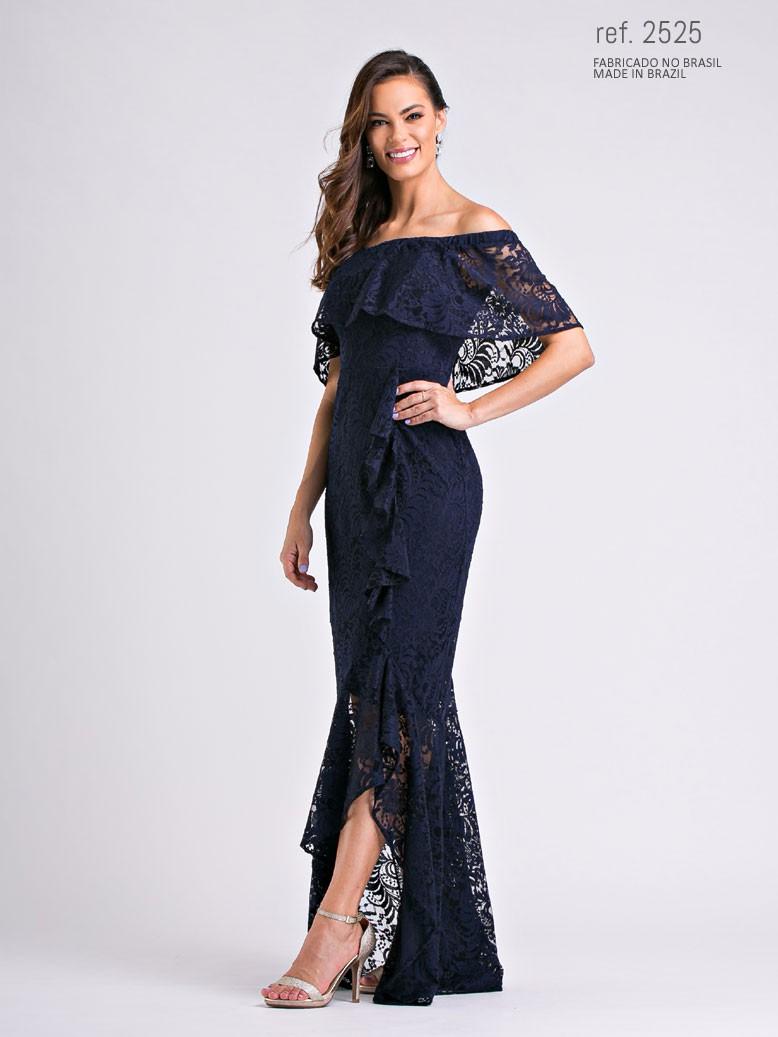 vestido de renda mullet