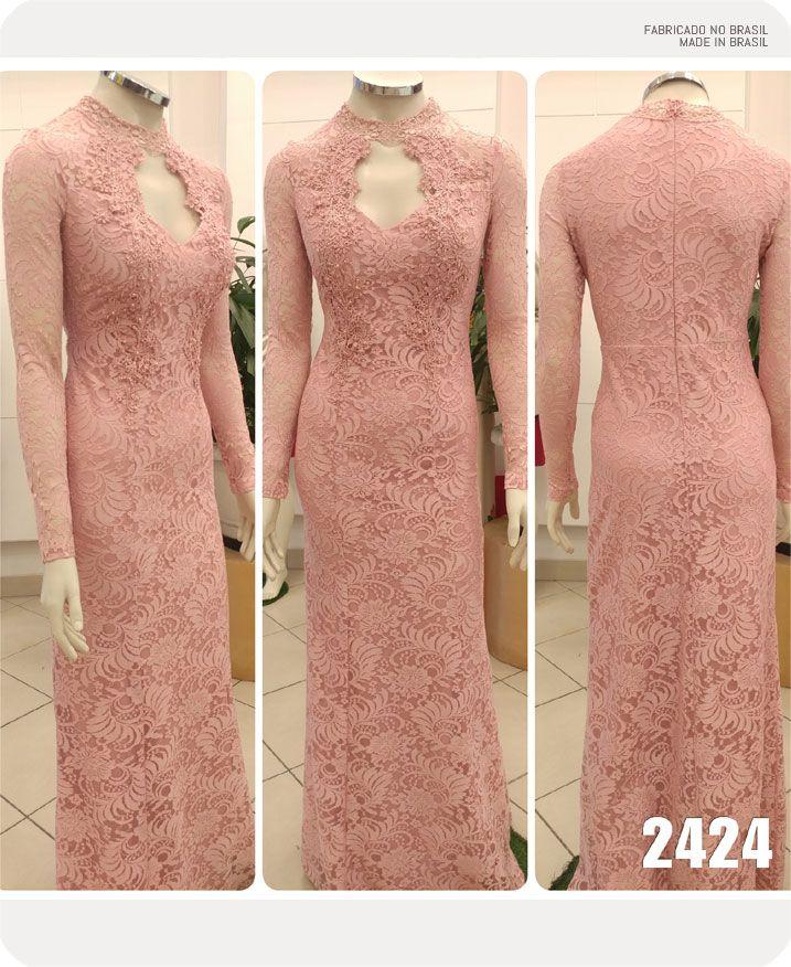 Vestido de festa Rose manga longa Ref. 2424