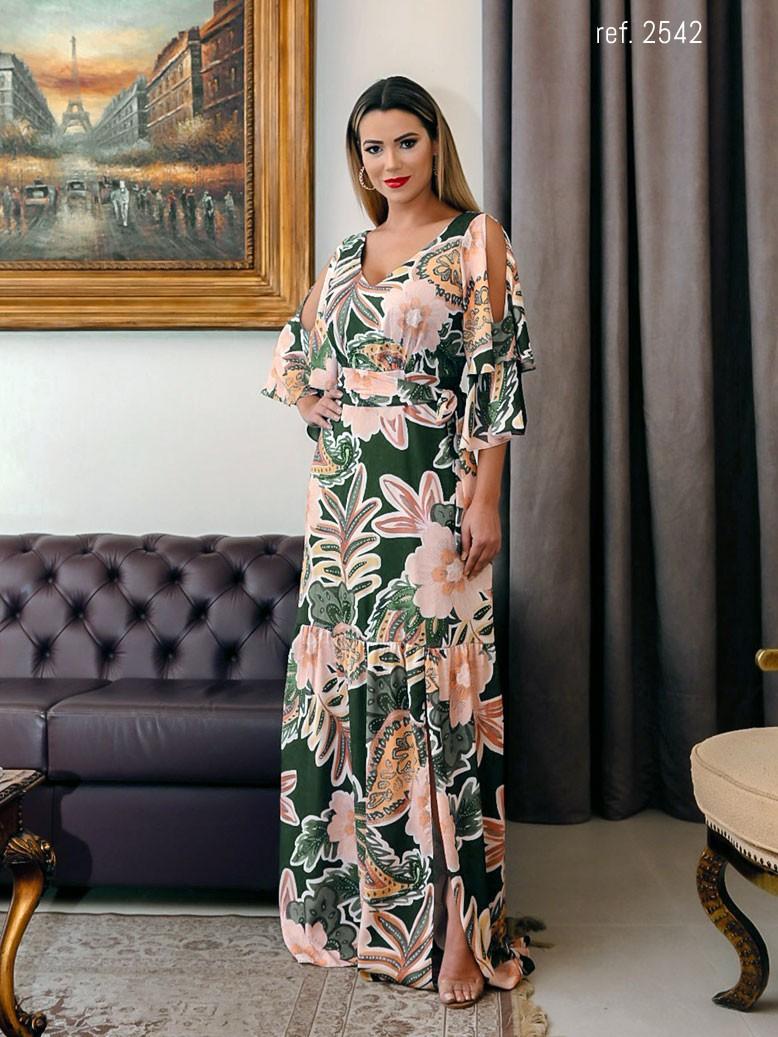 vestido longo de cetim