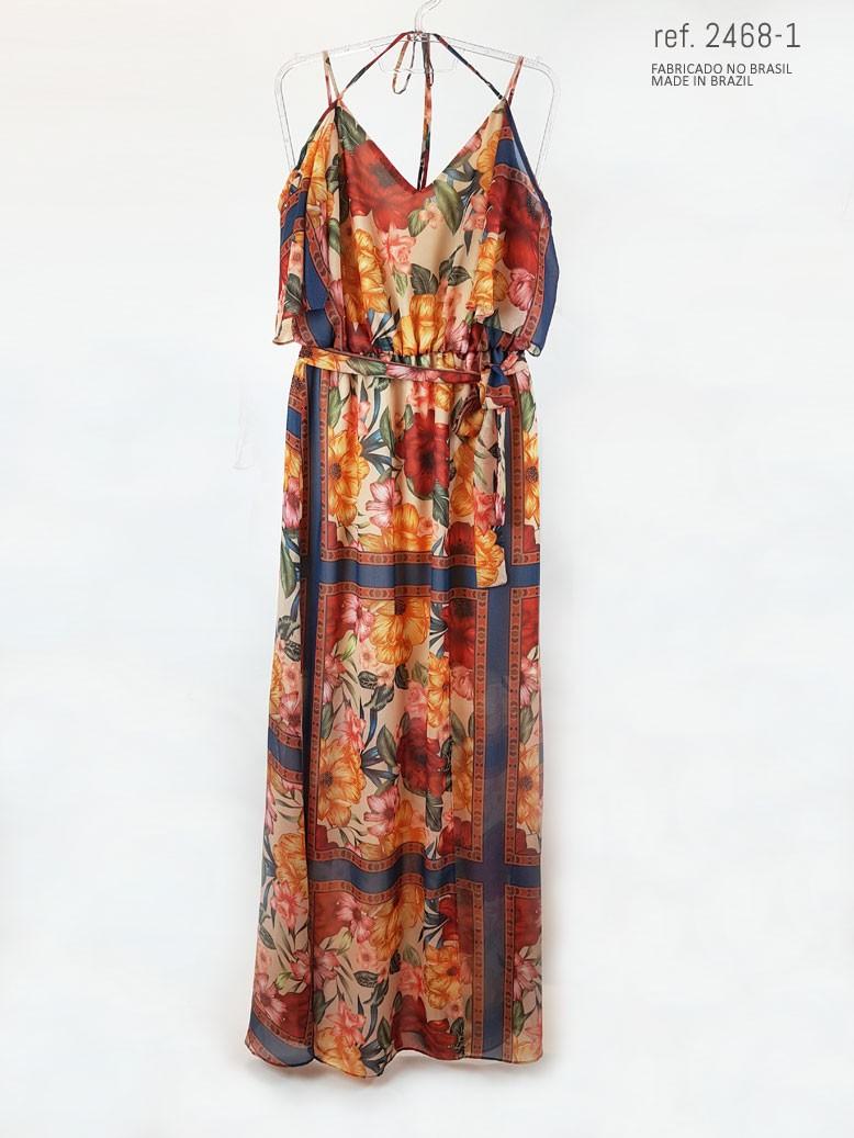 vestido estampado parte frente
