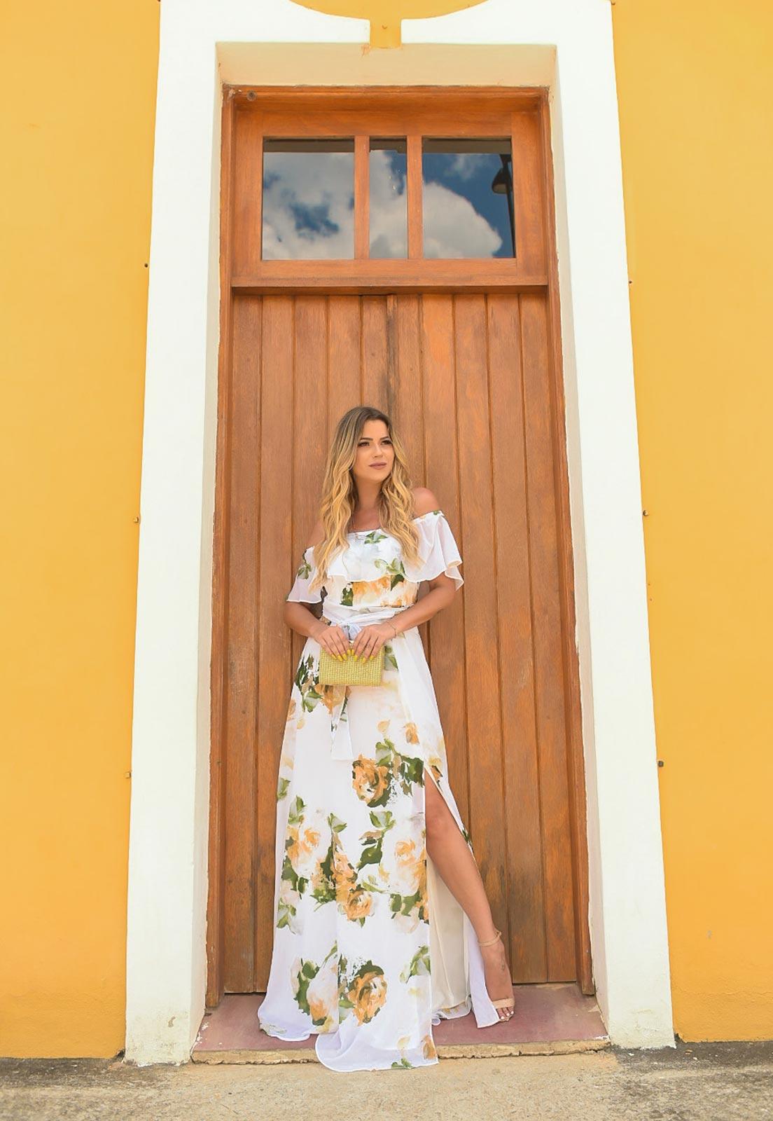 vestido cigana floral