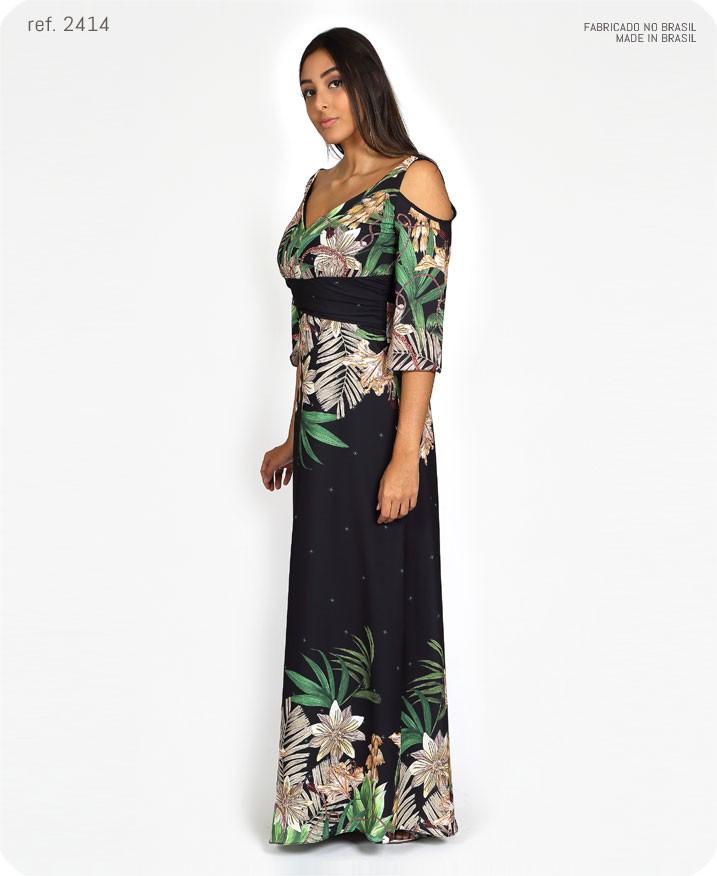 vestido estampado de lado