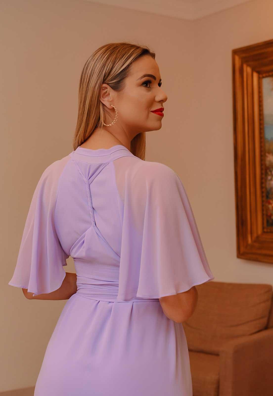 vestido longo Lilás para madrinhas