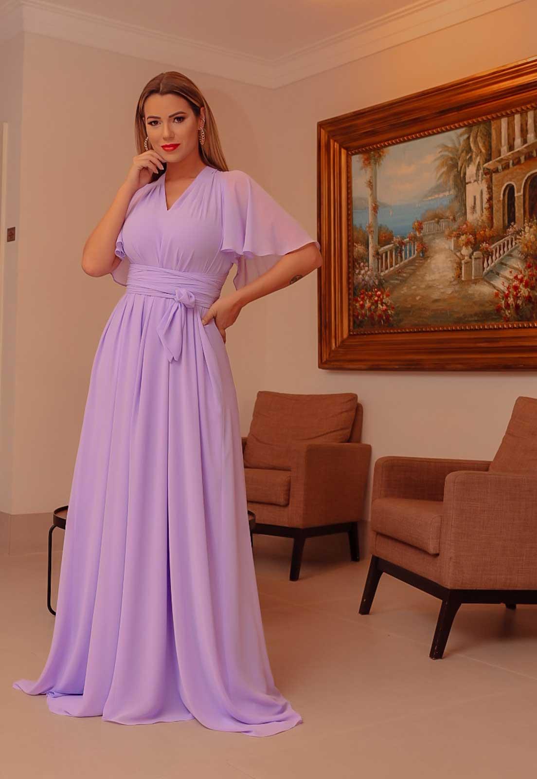 vestido para madrinhas lilás