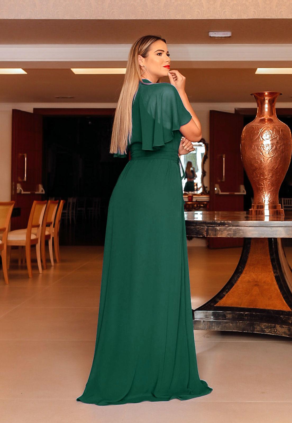 vestido longo para madrinhas na cor VERDE