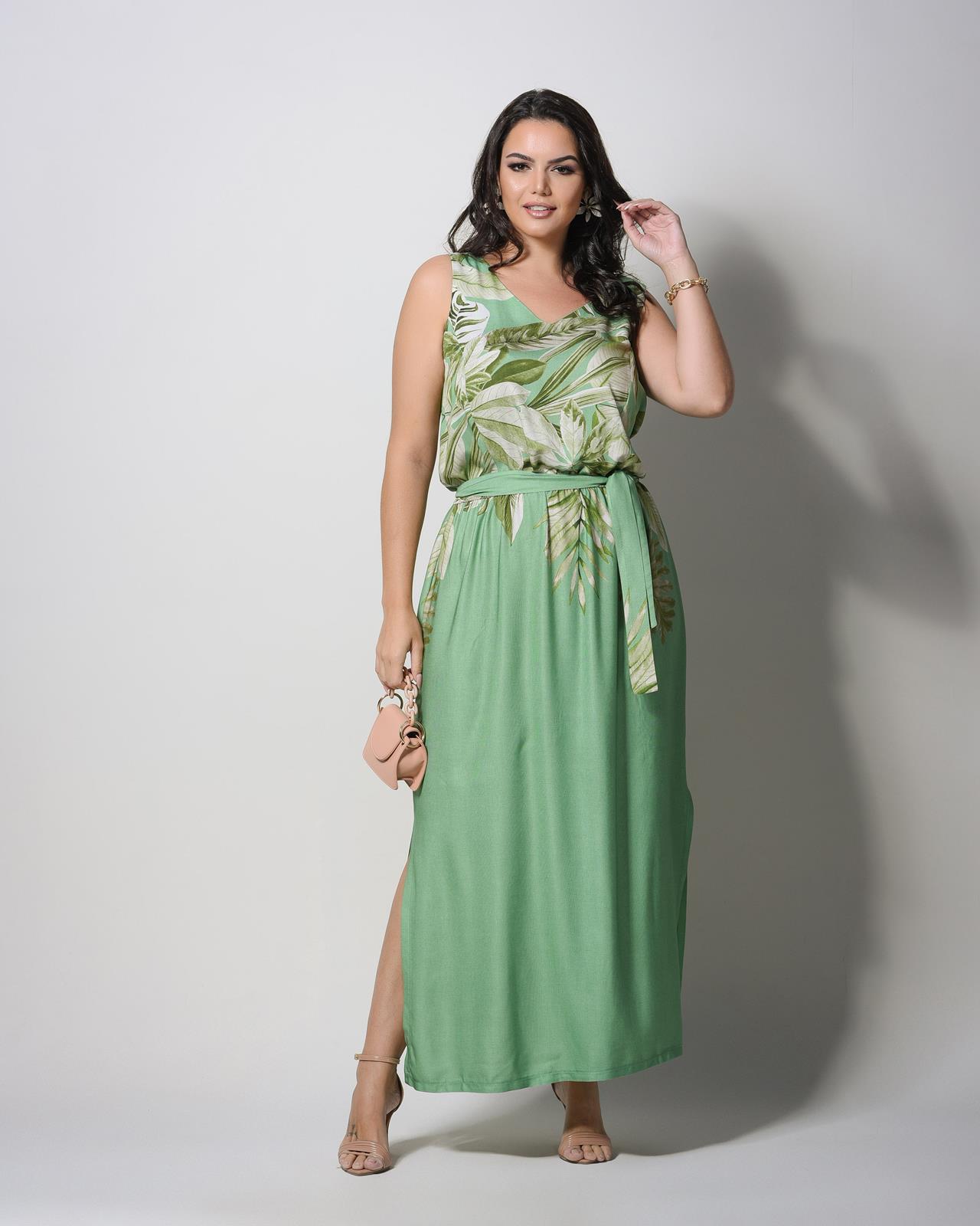 Vestido longo plus size  U58421