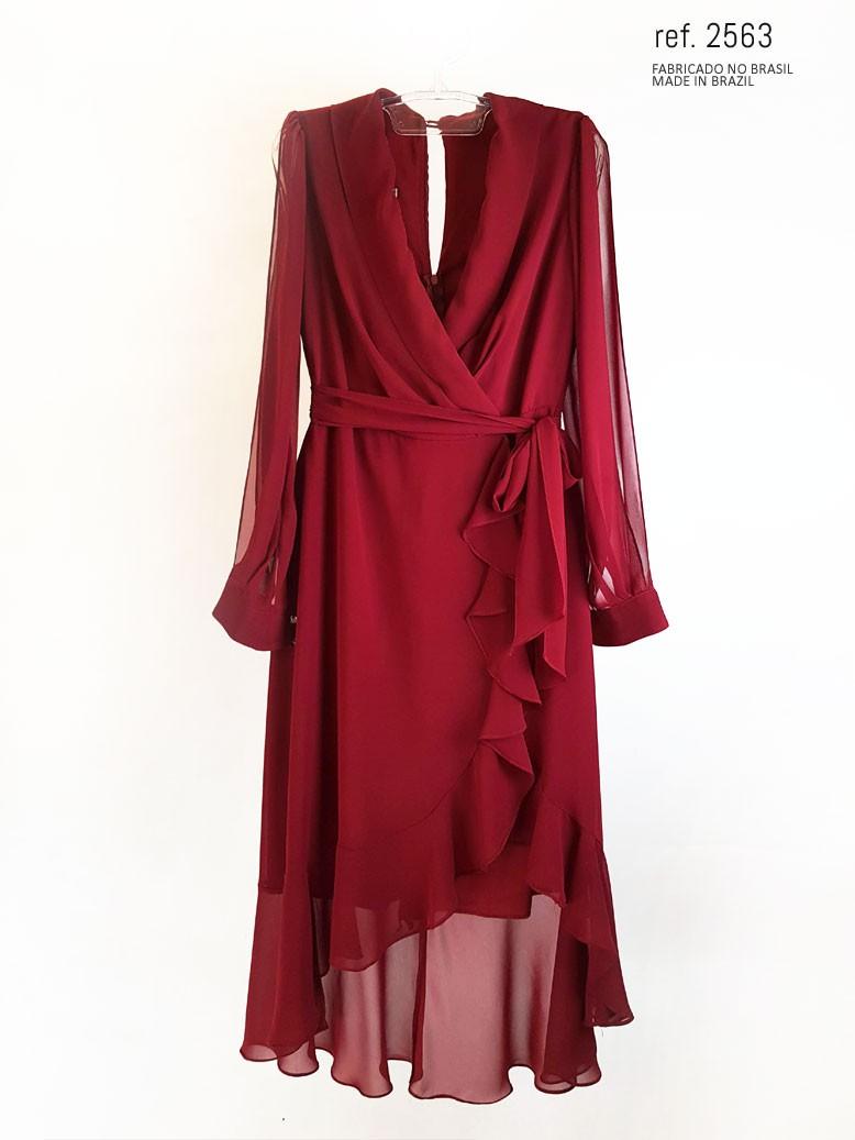 vestido mullet marsala  frente