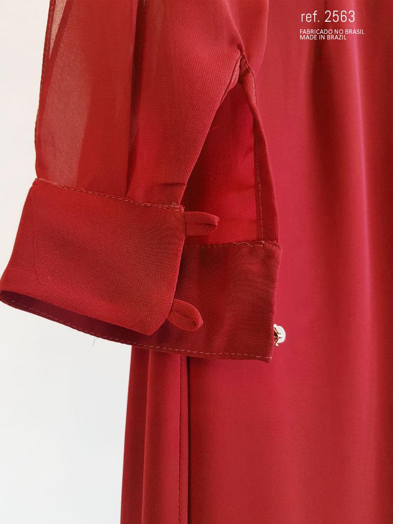 botões do punho do vestido marsala