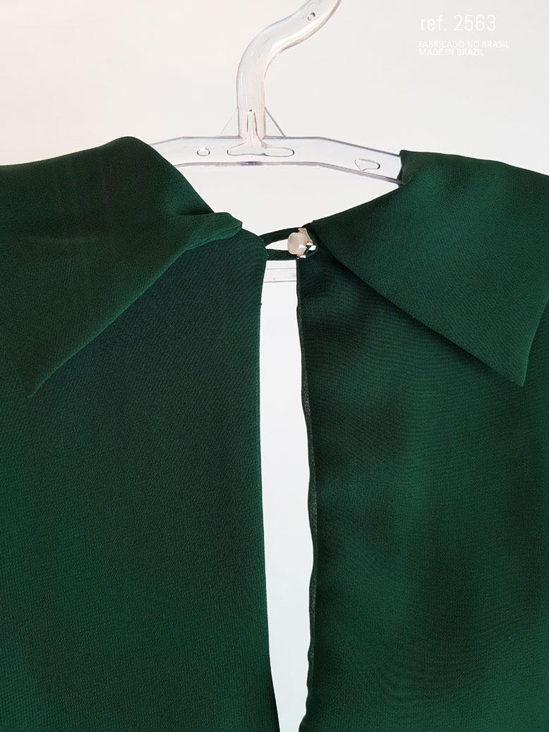 botões do punho do vestido verde musgo