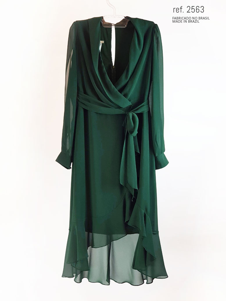 vestido mullet verde  frente