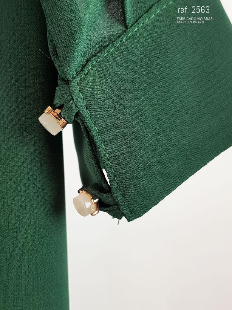 vestido terracota punho
