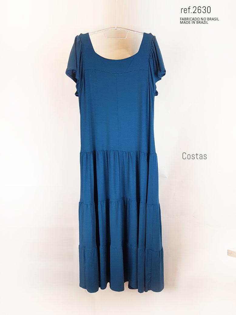 vestido para compar azul petroleo