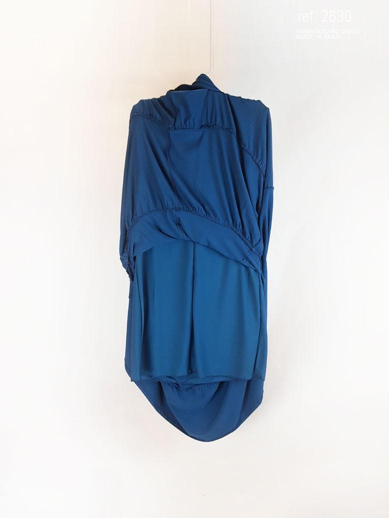 vestido azul com faixa
