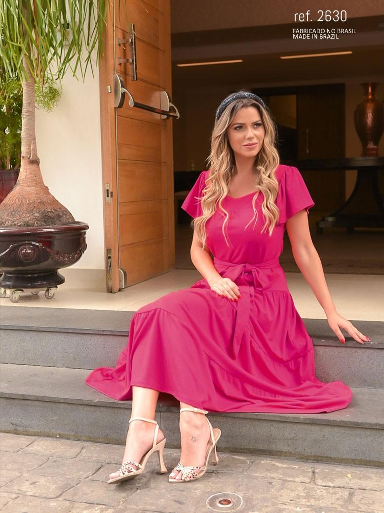 Vestido de malha pink- Ref. 2630