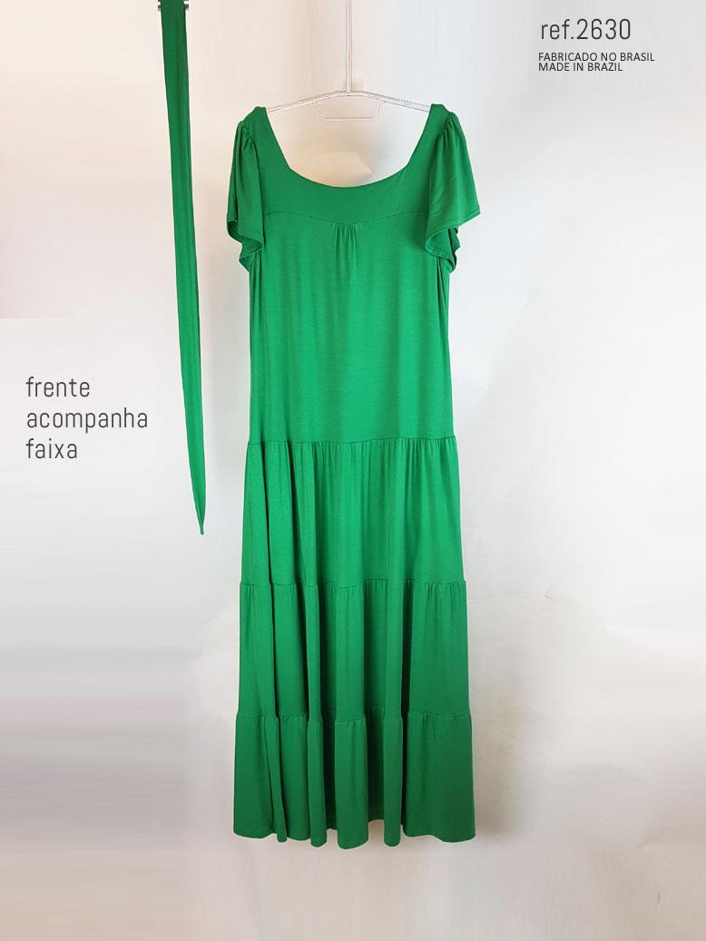 vestido parte da frente verde