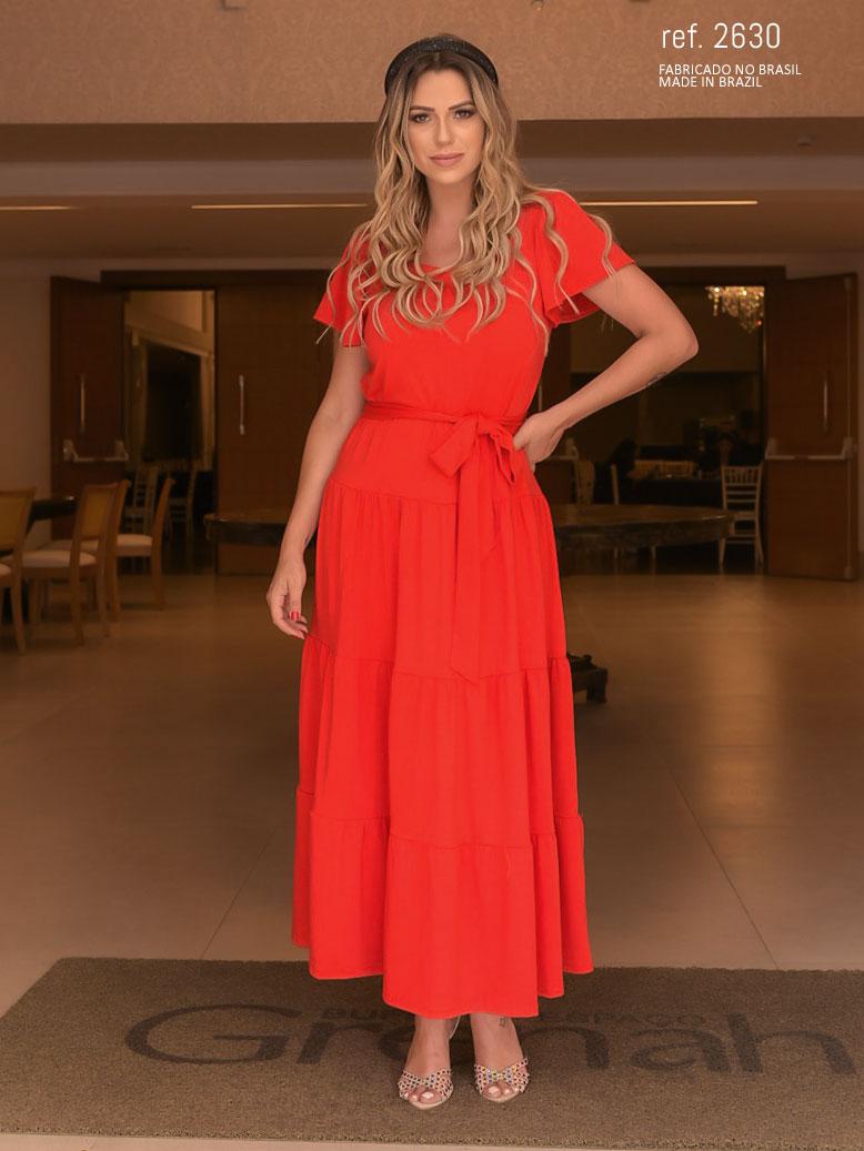 Vestido de malha vermelho - Ref. 2630