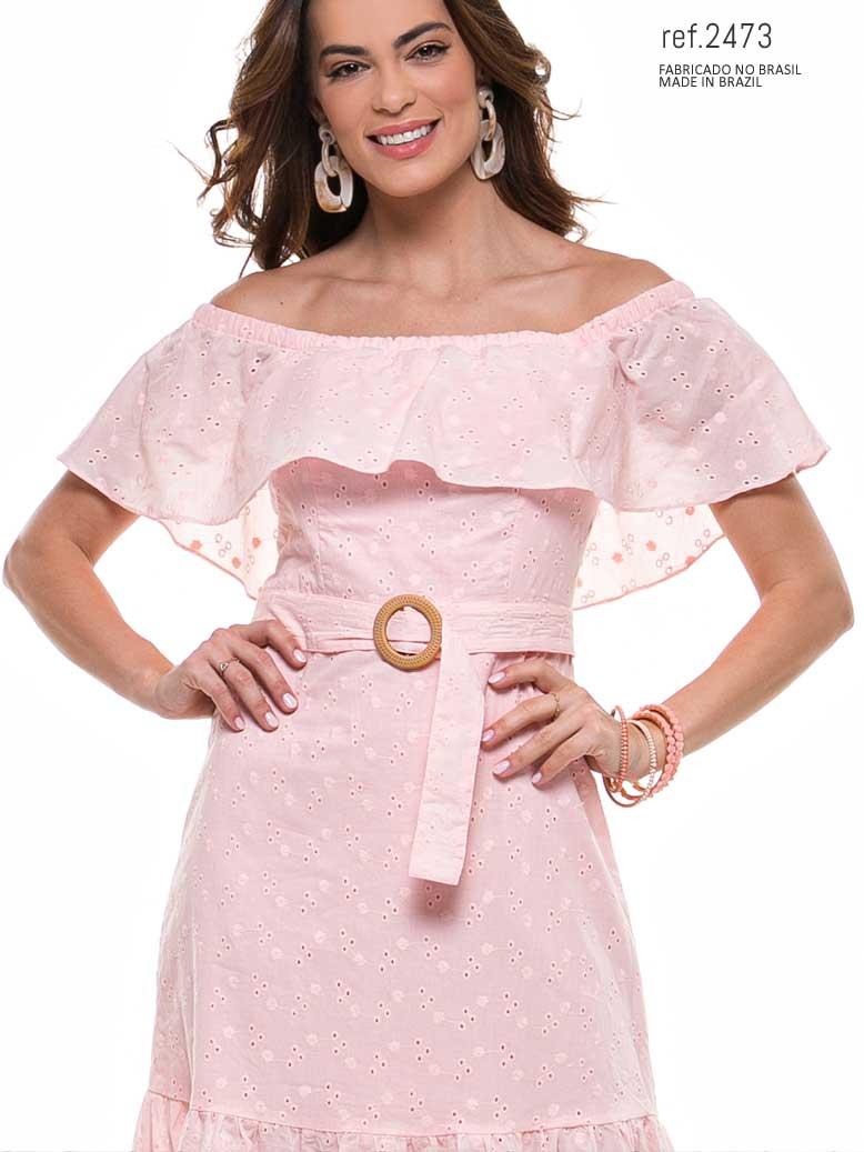 vestido voal midi com cinto