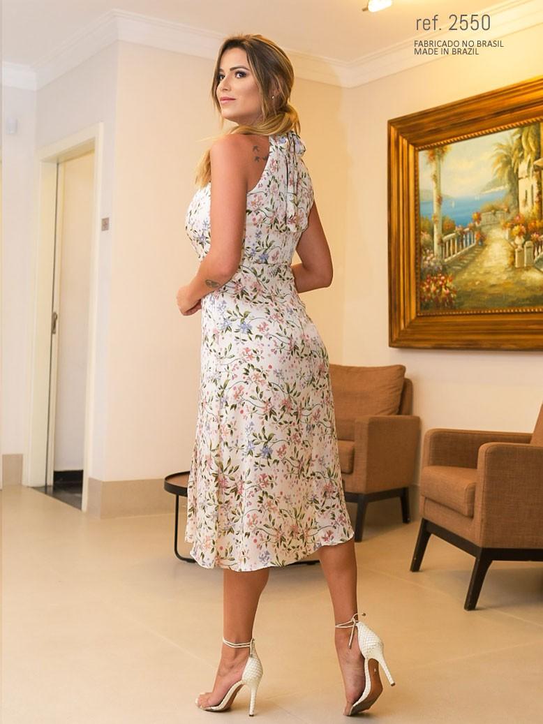 vestido longuete estampado