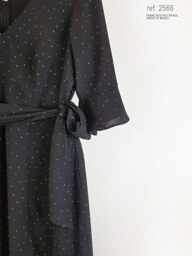 vestido com manga preto