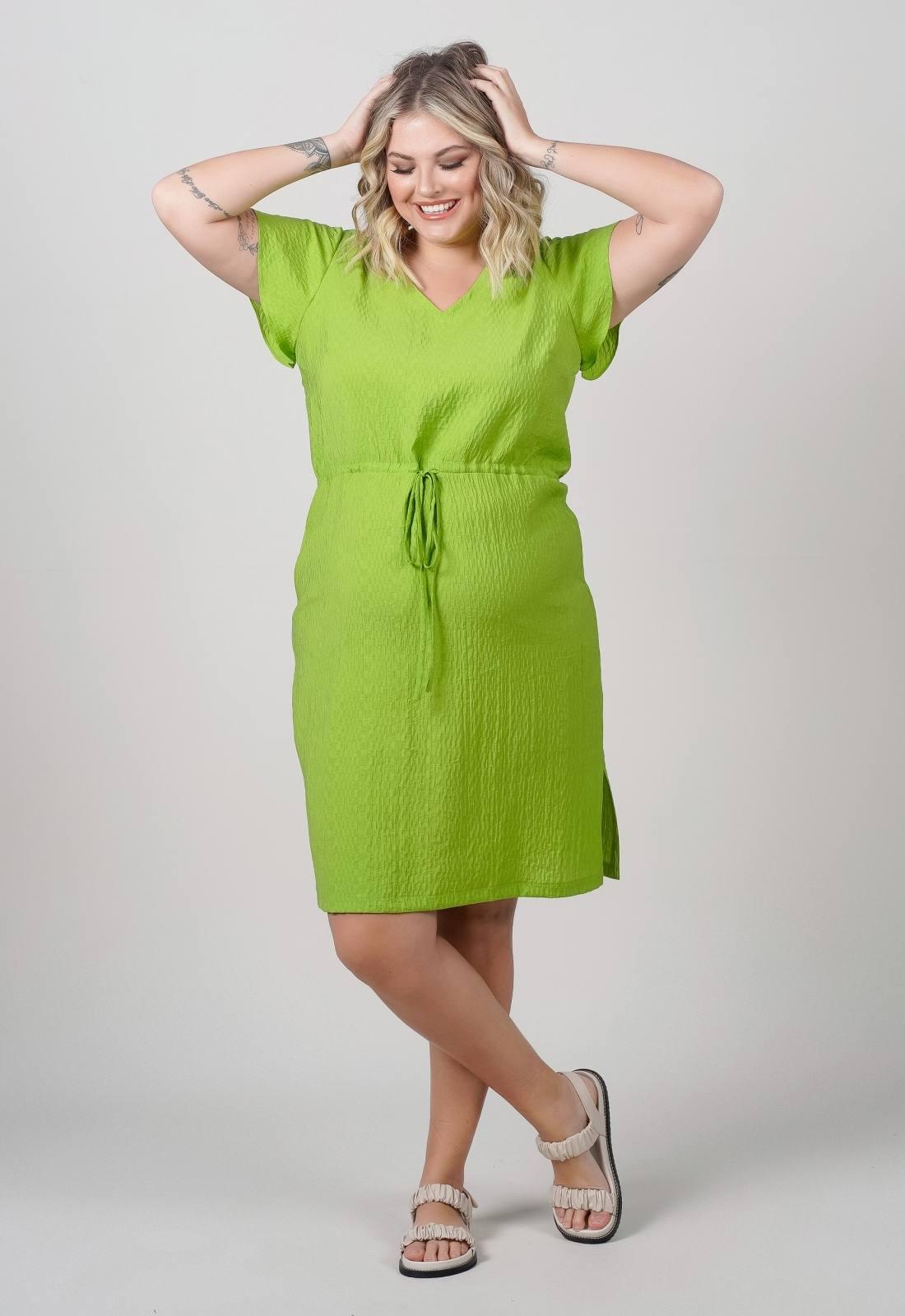 Vestido midi plus size verde Ref. U69821