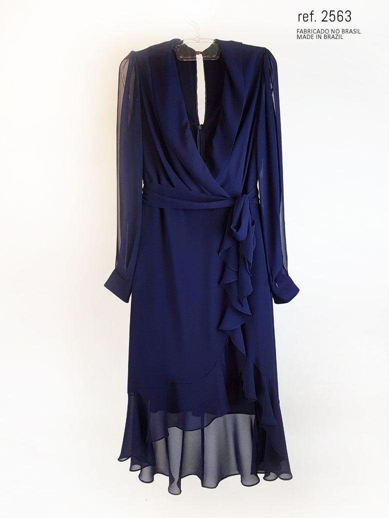 vestido mullet azul marinho frente