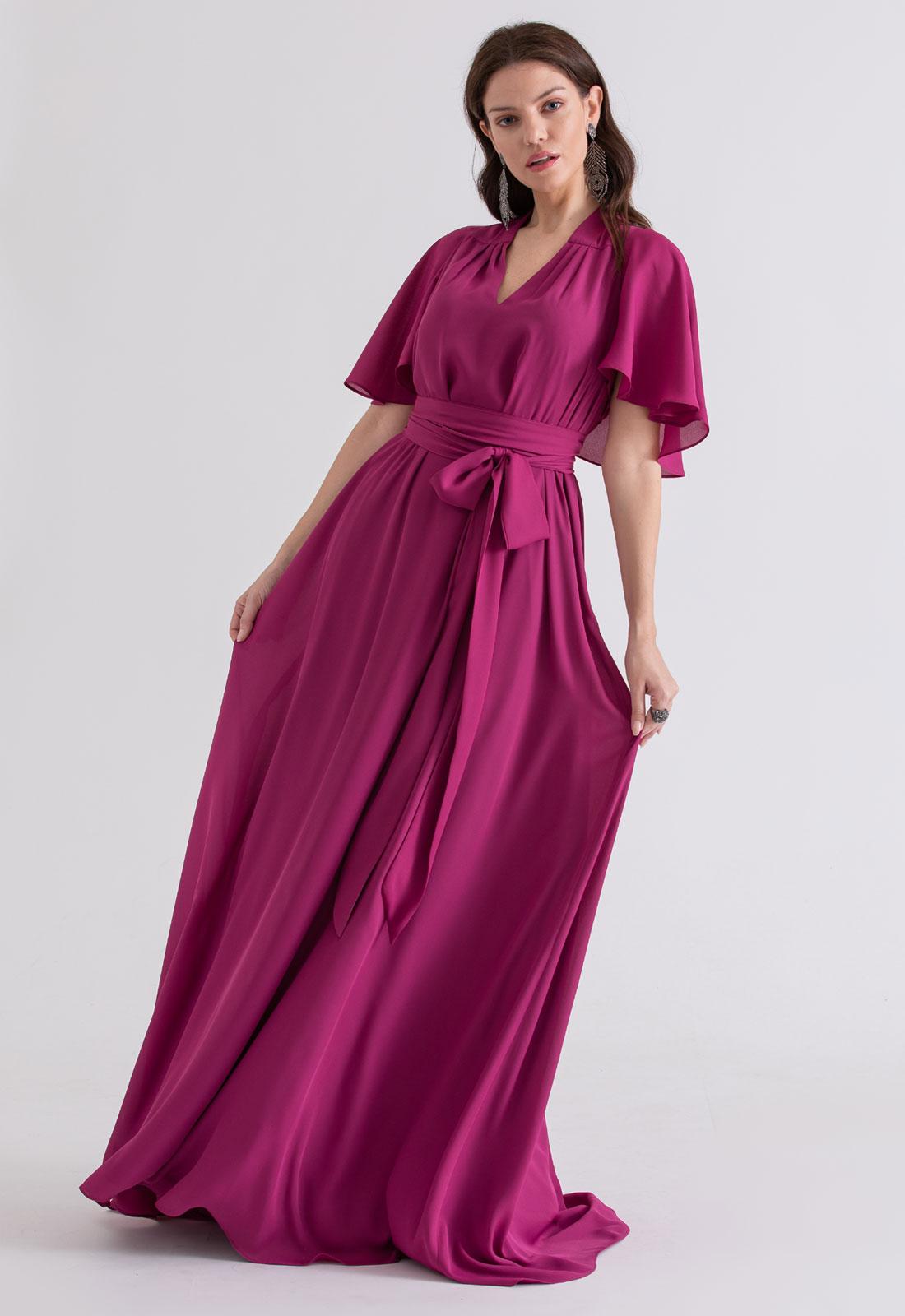 Vestido multi-tamanho Fucsia ref.2593