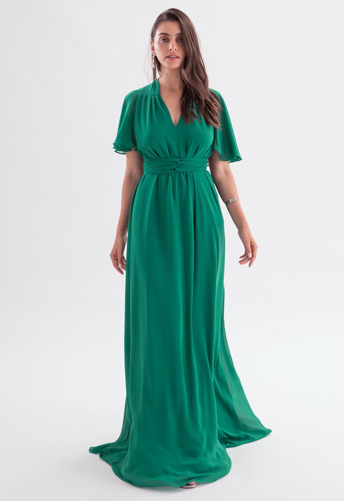 Vestido para madrinha Verde multi tamanho ref.2593