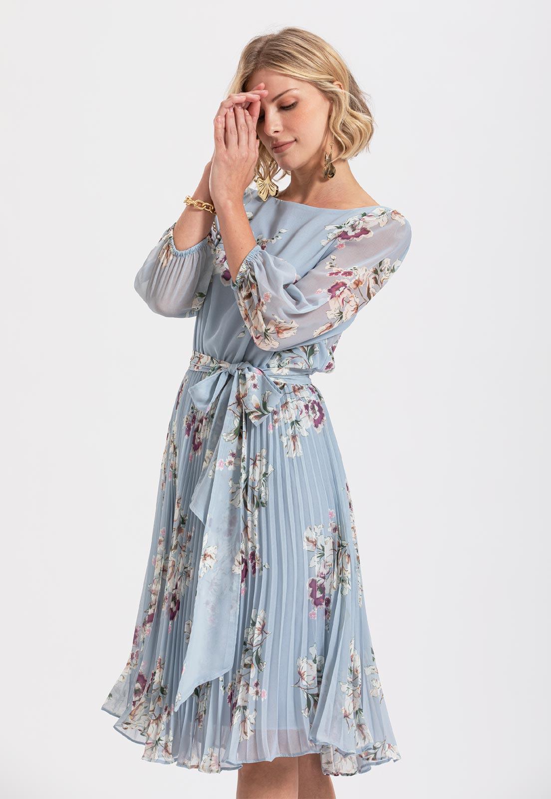 Vestido plissado midi floral Serenity Ref. 2583