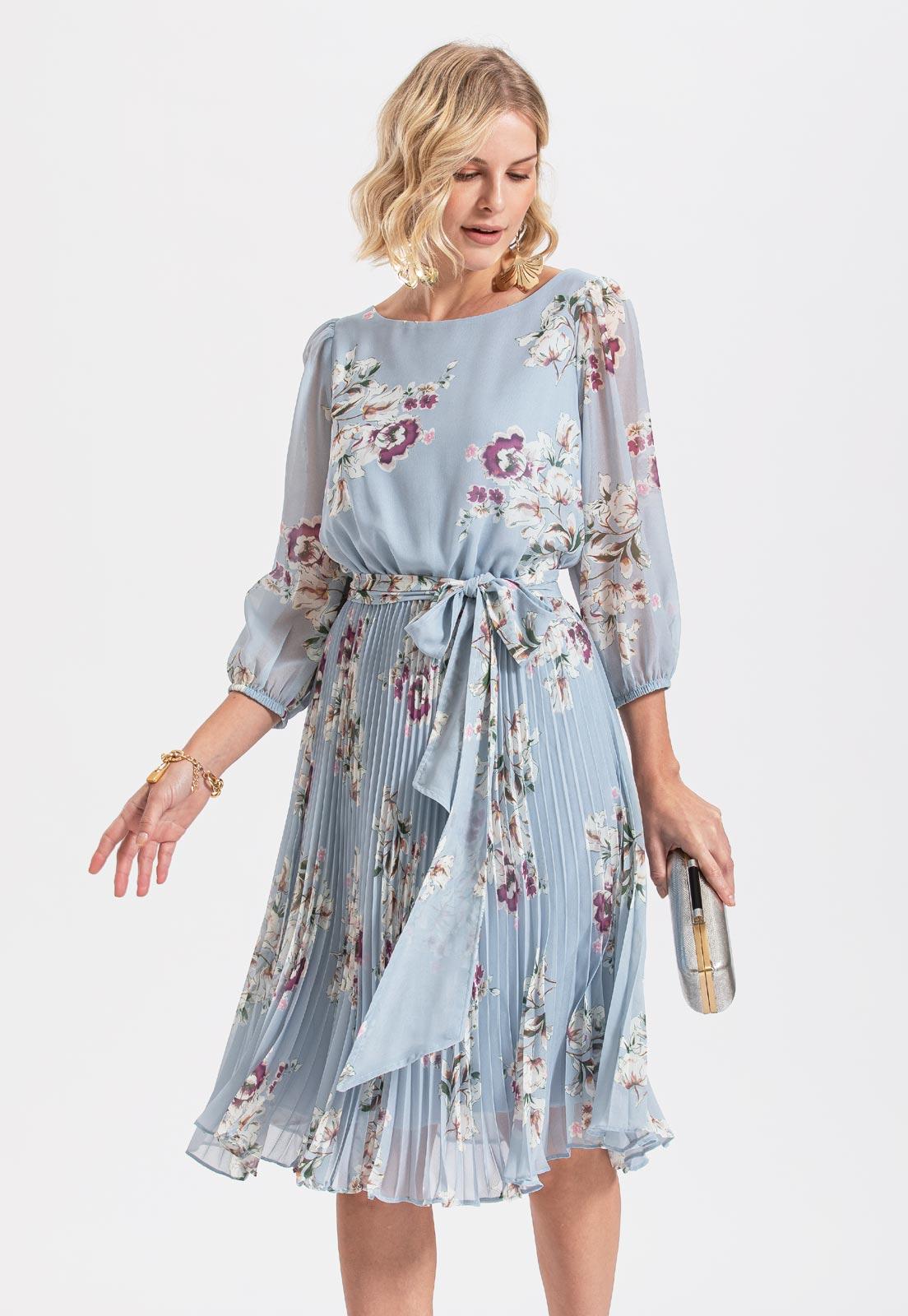 vestido de madrinha floral serenity