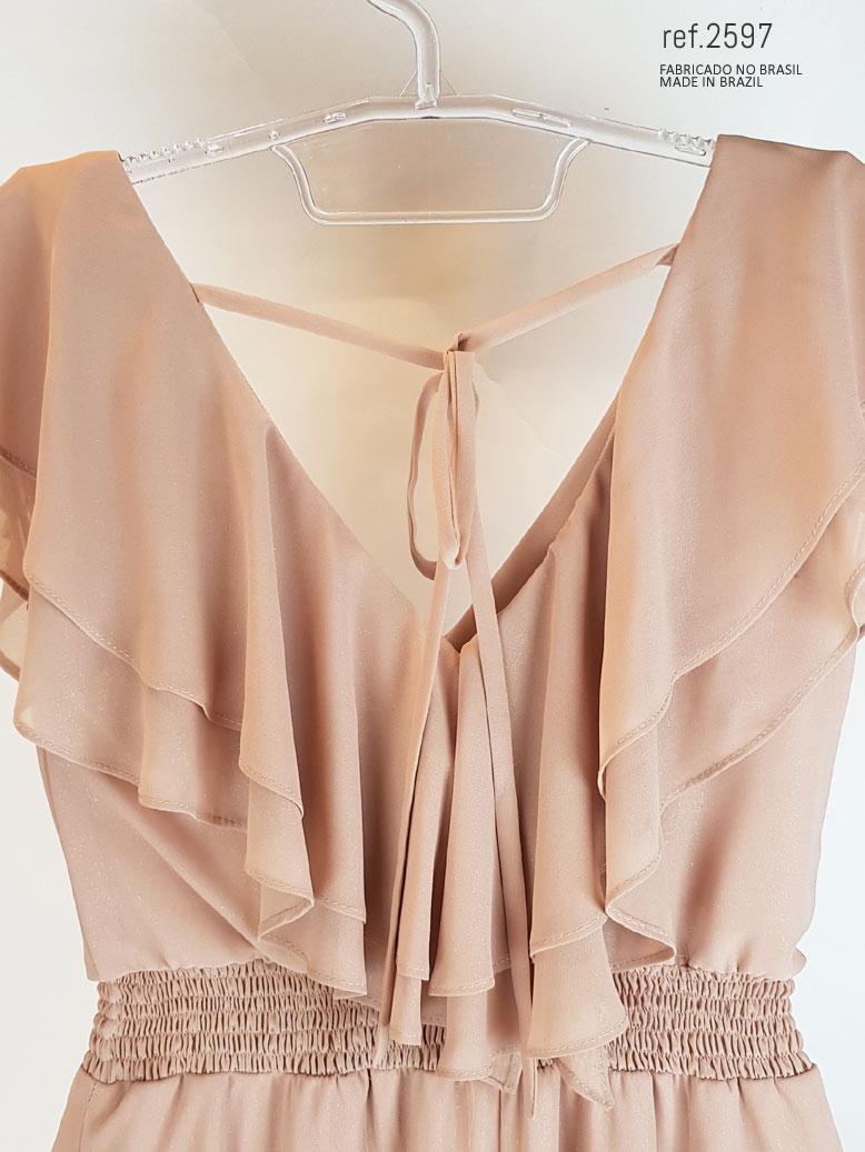 vestidos rosê com brilho no tecido