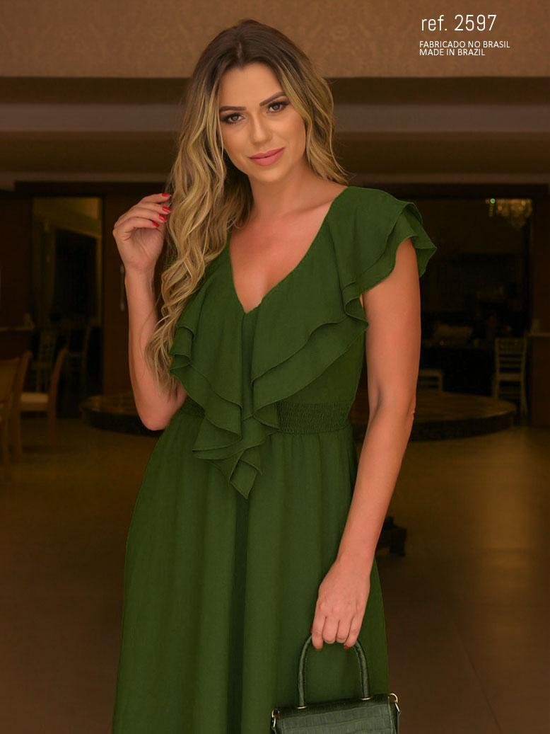 vestido verde oliva