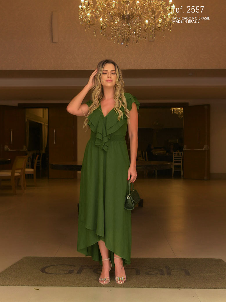 vestido mallet verde