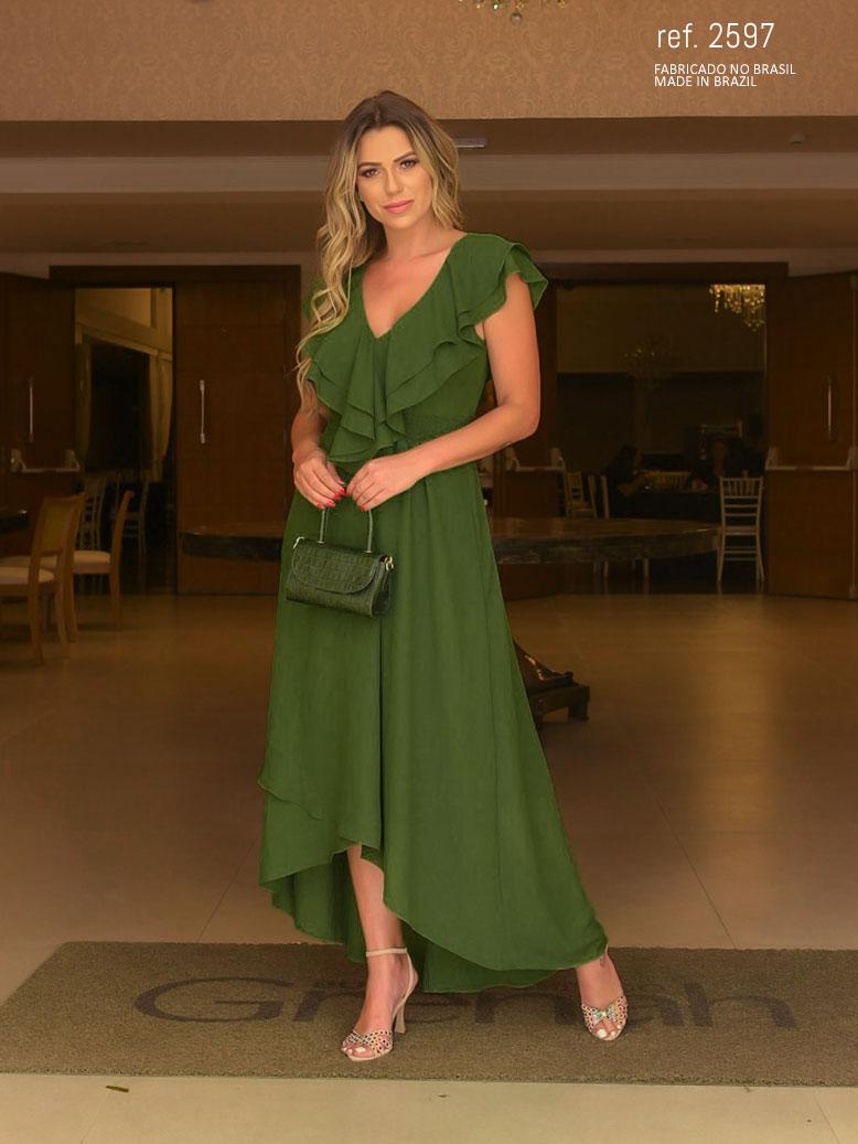 vestido longo mallet