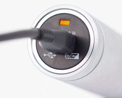 CABO RECARREGÁVEL 3.5V MD EM METAL COM BATERIA DE LÍTIO E CARREGADOR POR USB