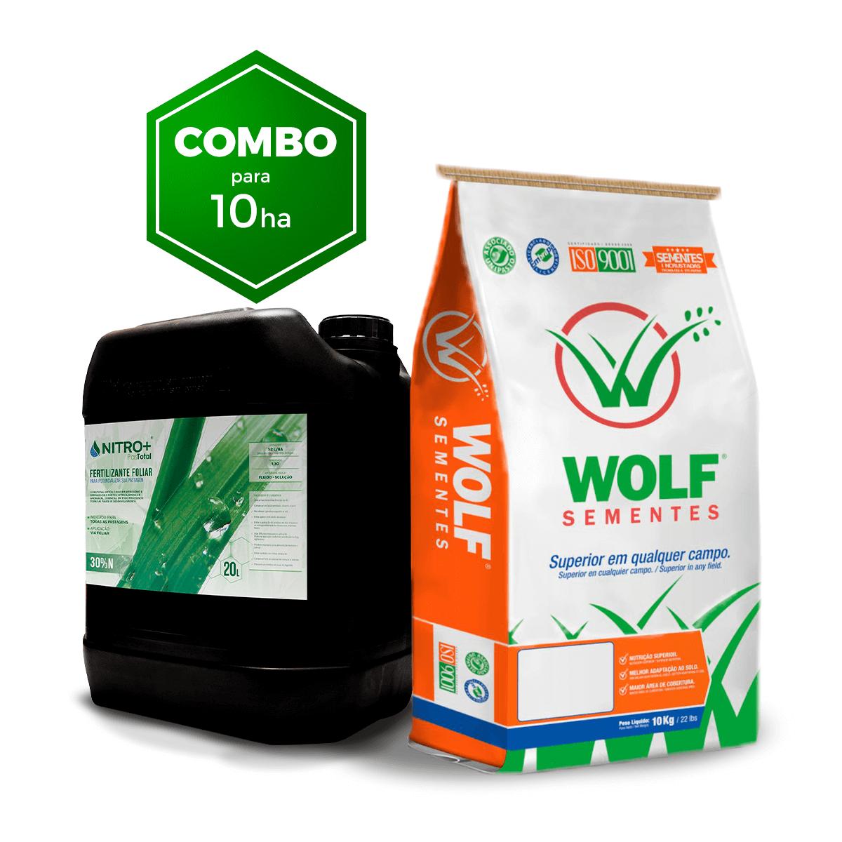 Combo 100kg Mombaça Incrustada + 20L Fertilizante Foliar Pastotal Nitro+