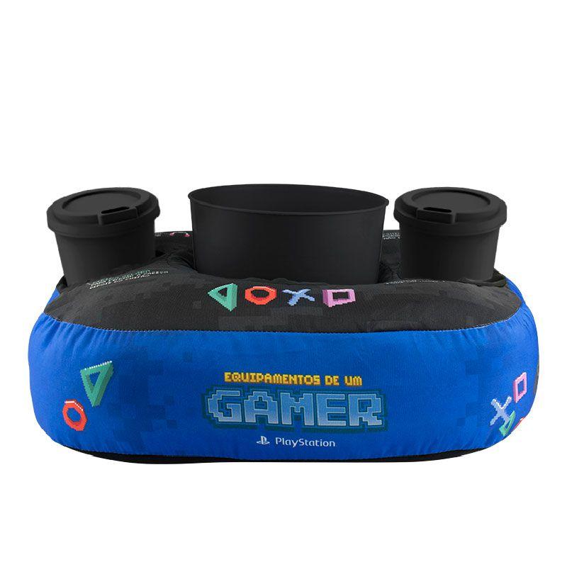 Almofada Porta Pipoca Gamer - kit
